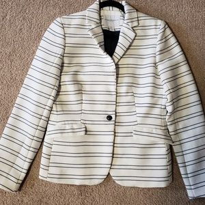 Katherine Barclay Blue & White Striped Blazer